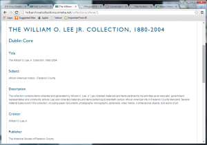 Wm O Lee Jr. Collection 2