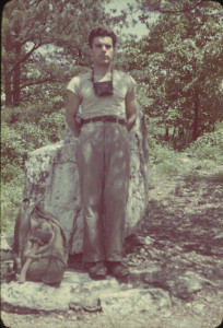 Earl Shaffer on his 1948 thru-hike. Photo from the collection of the National Museum of American History, Smithsonian Institution.