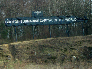 Submarine Capital of the World Sign