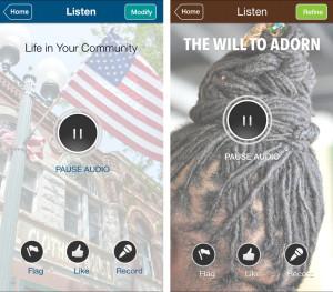 Listening Screens - Both Apps