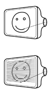 Illustration of how vector (top) and bitmap (bottom) images are created.