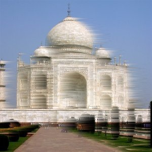 The Taj Mahal, winded by Photoshop
