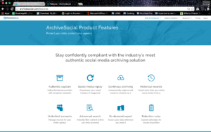 ArchiveSocial features