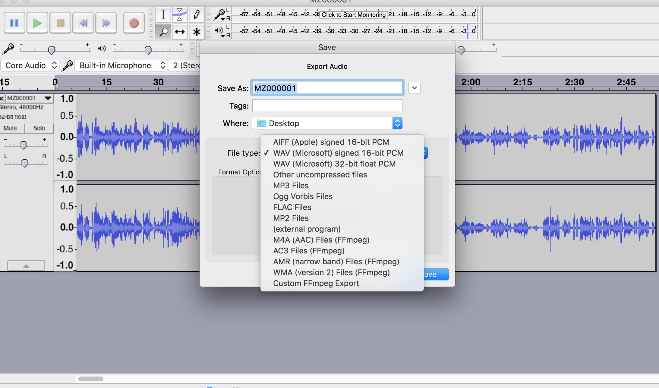 Ffmpeg Segment Audio
