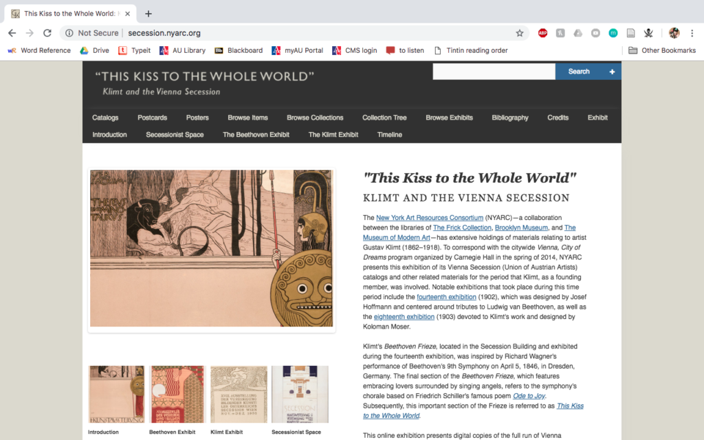Klimt and the Vienna Secession home page